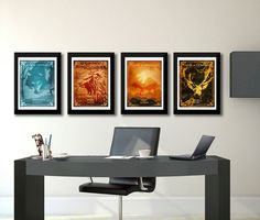 Game of Thrones emblem print Game of Thrones art Game of
