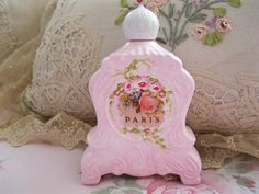 Paris French Perfume Label Bottle