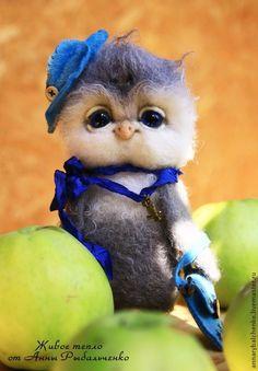 Сова Василиса - серый,сова игрушка,сова из шерсти,сова валяная,сова игрушка купить