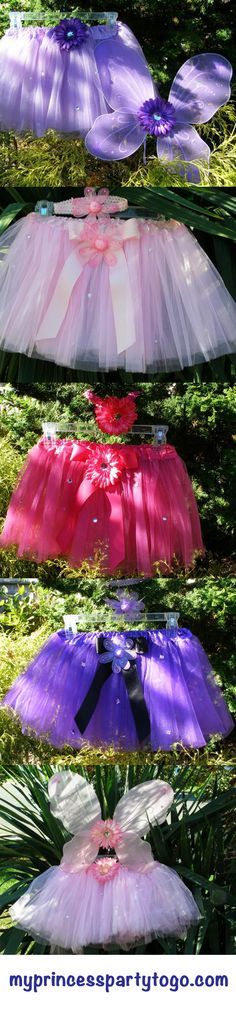Decorated Tutu Sets from My Princess Party to Go #princessparty #tutu #princess party