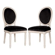 Safavieh Holloway Oval Side Dining Chair - Set of 2 - FOX6228L-SET2