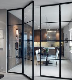 Interior french doors add a beautiful style and elegance to any room in your home. Crittal Doors, Interior Architecture, Interior Design, Steel Doors, Interior Barn Doors, Interior Sliding Glass Doors, Glass Barn Doors, Scandinavian Interior, Innovation Design
