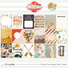 Now & Then Collab {Journal Cards} by Little Butterfly Wings and Etc. by Danyale at The Lilypad