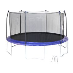 Skywalker Trampolines Trampoline, with Wind Stakes, Blue Outdoor Trampoline, Best Cyber Monday Deals, Steel Frame Construction, Backyard For Kids, Nice Backyard, Thing 1, Outdoor Furniture, Outdoor Decor, Bedroom Furniture