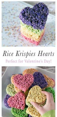 Rice krispies heart