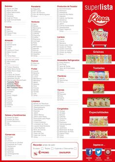 Riera te acerca una lista de compras para que lleves al super y ahorres tiempo para vos!