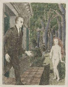 Paul Delvaux - L'Apparition