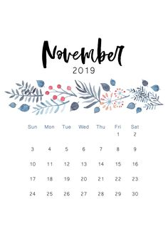 Free Blank November Calendar 2019 Printable Template PDF Word Excel Page Landscape Portrait Editable November 2019 Calendar Fillable Notes with Large Space November Kalender, November Calendar 2019, Calendar 2019 Cute, Printable Calendar Template, Print Calendar, November 2019, Blank Calendar, Calendar 2019 Monthly Printable, Calendar 2019 Design