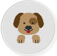 Charts Club Members Only: Happy Dog Cross Stitch Pattern