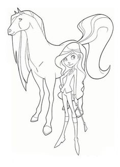 Free Printable Horseland Coloring Pages For Kids And