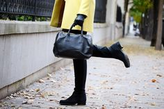 Botas altas de ante negro