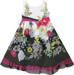 CM51 Girls Dress Rose Gray Flower Detailed Trim Kids Clothing Size 2 Sunny Fashion,http://www.amazon.com/dp/B00BH5STT6/ref=cm_sw_r_pi_dp_s0NMsb1G4VMA9Q85