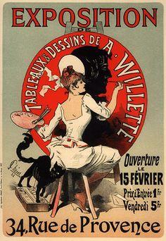 Cheret, Jules - PL. 97 - Exposition de Tableaux et Dessins de A.