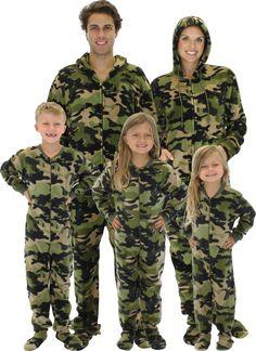 Holiday Matching Family Pajamas Blue Snowflakes Footed Pajamas ...