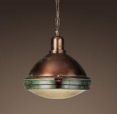 Prismatic Glass Copper Pendant