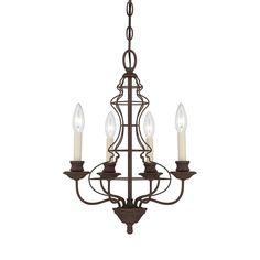 Shop Quoizel 4-Light Rustic Antique Bronze Chandelier at Lowes.com