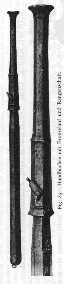"Handgonne found in 1871 at Schwarzort (pol. Juodkrantė) now Poland. The piece was referred to as ""Kurisches Haff"" in the pre WW II literature. Bronze, length 445 mm, caliber 17 mm, weight 2,58 kg. The stock is a 19th century reconstruction. Muzeum Wojska Polskiego, Warszawa, Poland."