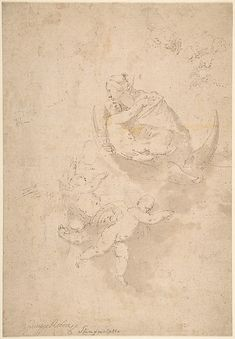 Jusepe de Ribera (called Lo Spagnoletto) | Virgin and Child on Crescent Moon with Putti | The Met