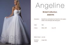 Bride dress Bridal by Anenia Bridal Collection, Bridal Dresses, Bodice, Ball Gowns, Tulle, Lace Up, Formal Dresses, Beautiful, Fashion