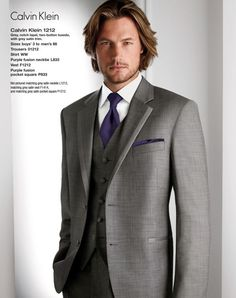 Grey groomsmen suit - for Michael