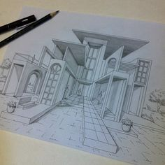 Interesting Find A Career In Architecture Ideas. Admirable Find A Career In Architecture Ideas. Interior Architecture Drawing, Architecture Drawing Sketchbooks, Architecture Concept Drawings, Interior Design Sketches, Architecture Design, Architecture Student, Perspective Drawing Lessons, Perspective Sketch, Point Perspective