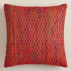 $24.99 Burnt Orange Honeycomb Throw Pillow | World Market