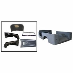 This reproduction steel body kit restores Jeep (Scrambler). Includes the body tub, fenders, hood, windshield frame, and tailgate. Jeep Body Parts, Live For Speed, Jeep Cj6, 4x4, Jeep Scrambler, Best Car Insurance, Cab Over, Best Build, Jeep Accessories