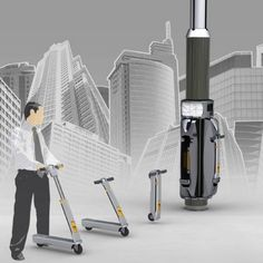 Electronic Scooters, Modular transport solution, Folding Scooters, future life