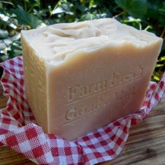 This Goat's Milk Soap from @handcraftedsoap Large bar going to be shipping to #Canada #Vancouver Today