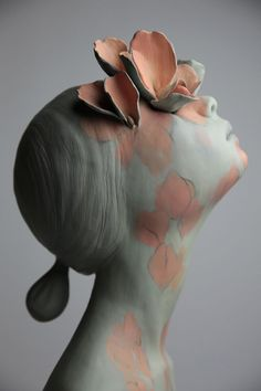 "OcéanoMar - Art Site : Gosia Sculptures ""GROW"" CERAMIC & PAINT 