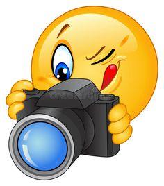 Foto acerca Ilustración de un emoticon que toma una foto. Ilustración de expresión, feliz, aislado - 19731655