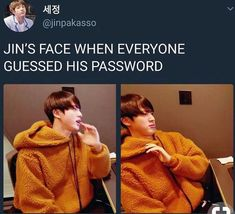 Jin-ah usually does a vlive were he plays online games with fans on his birthday, so he has to create a room so fans can play with him, but as soon as he created it they had already guessed the password to enter the game without him telling it to them Got7 Bambam, K Pop, Bts Jin, Jimin, Jikook, Baekhyun, Play Game Online, Online Games, Kpop Memes