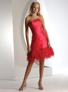 Short Strapless Tulle Trim Hem Prom Dresses