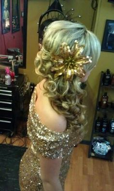 side updo formal prom style  wedding hair color for blondes *All About You* Hair by Brandy Bilbrey 615-792-8817