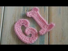 (crochet) How To Crochet Letters G, I - Crochet Extras - YouTube