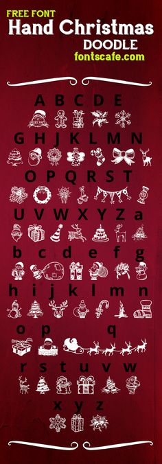 "A new Christmas present for you: get your ""Hand Christmas Doodle"" font with our best wishes! :) 