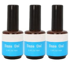 3 Pcs Nail Art Primer Base Coat UV Gel Polish Gloss Guard Glaze Manicure Adhesives Acrylic DIY Decor *** This is an Amazon Affiliate link. Want to know more, click on the image.
