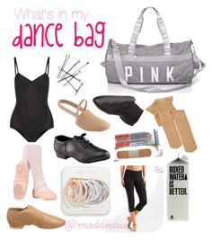 """""""What's in my dance bag"""" by maddiedise on Polyvore featuring Ballet Beautiful, Capezio Dance, Capezio, Aéropostale and Odeme"""
