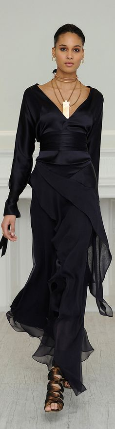 Juan Carlos Obando F/W 2013-2014  Black Dress #2dayslook #lily25789 #susan257892 #BlackDress   www.2dayslook.com