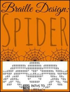 This braille design of a spider is great for Halloween!