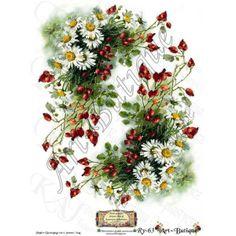 Papier Decoupage - Kwiaty na Meble Ry-63