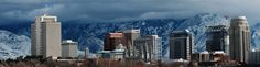 Downtown Salt Lake City Utah in the Winter Salt Lake City Utah, New York Skyline, Winter, Travel, Winter Time, Viajes, Destinations, Traveling, Trips