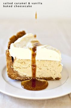 Salted Carmel Vanilla Cheesecake