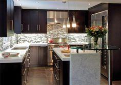 Modern Kitchen Backsplash Dark Cabinets