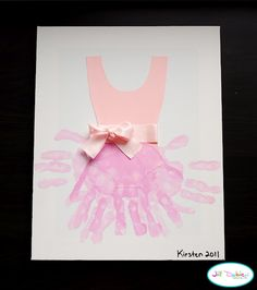 This is so cute!  Handprint Ballerina Outfit.