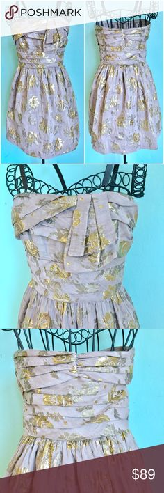 Juicy Couture Cherry Blossom Gold Dress Up for sale preowned but in great condition Juicy Couture Gold Cherry Blossom Dress. Size: 0. Check out my closet, bundle and give me your offer! Juicy Couture Dresses Mini