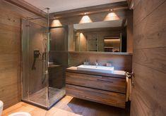 Cabin Interior Design, Chalet Design, Dream House Interior, House Design, Diy Bathroom, Small Bathroom, Bohinj, Wooden Architecture, Cabin Interiors