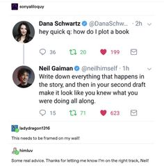 Neil Gaiman writing tip Creative Writing Tips, Book Writing Tips, Writer Tips, Writing Art, Writing Words, Writing Help, Writing Skills, Writing Ideas, Writing Memes