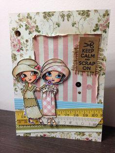 Cartão Mari Digis stamps
