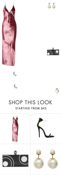 """""""Grace"""" by zoechengrace ❤ liked on Polyvore featuring Fleur du Mal, Public Desire, Halston Heritage and Shaun Leane"""